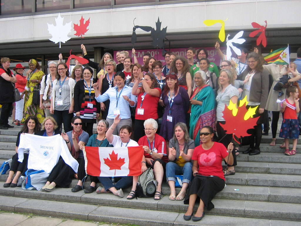 Canadian midwives attend the ICM Triennial Congress in Prague, 2014
