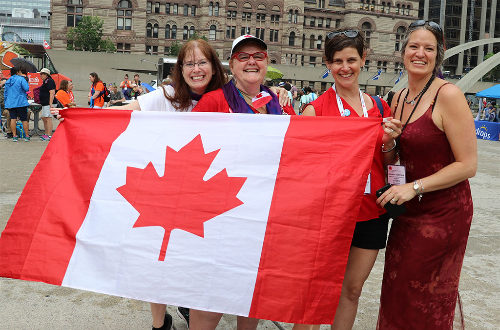 Canadian midwives at March for More Midwives