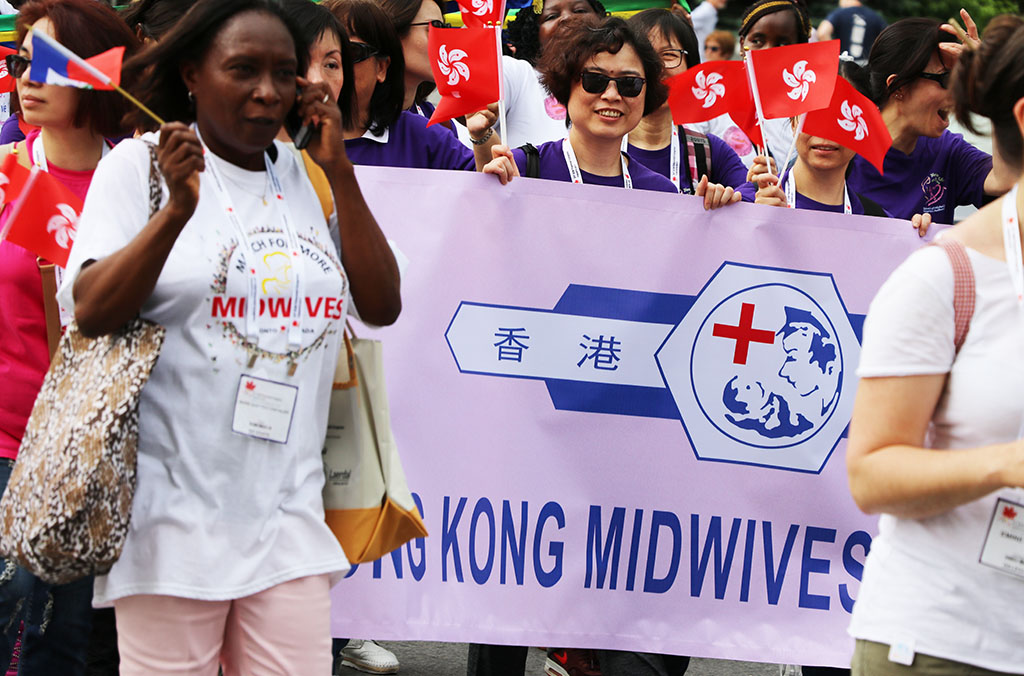 Hong Kong midwives at March for More Midwives