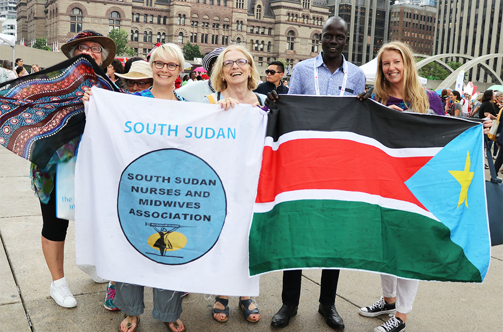 Canadian midwives with south-sudanese midwife Joseph Deng